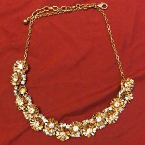 J Crew sparkle bib necklace